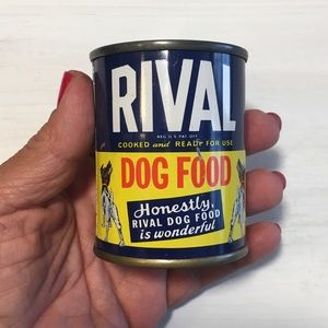 Coin Bank Vintage Rival Dog Food Advertising